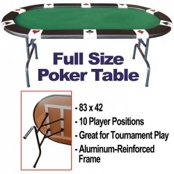 Trademark Poker Full Size Accent Suited 83 x 42-Inch Poker Table