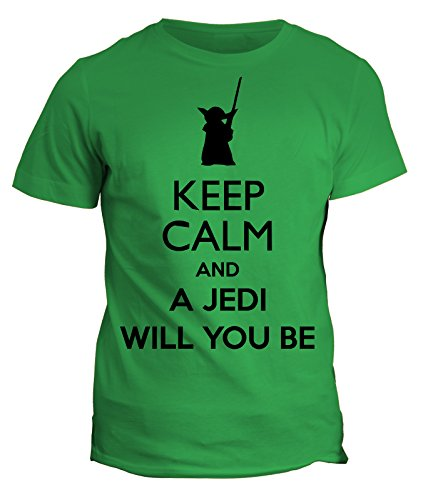 Tshirt keep calm and a jedi will you be - star wars - in cotone by Fashwork
