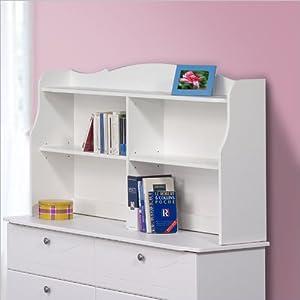 Nexera Dixie Bookcase Hutch for Double Dresser, White from Nexera