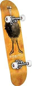 POSITIV Rodney Jones Ostrich Neck Complete Skateboard (Orange, 7.625-Inch) by FBAPowerSetup
