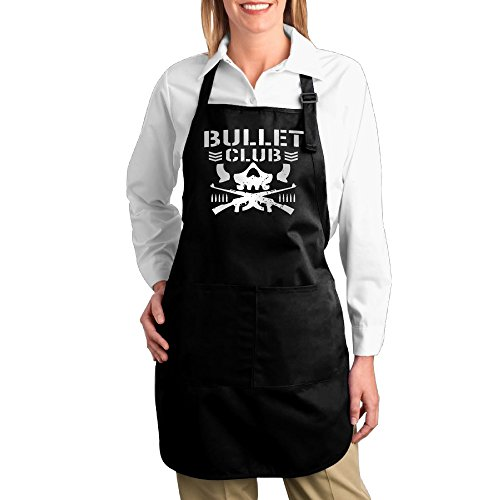 Bullet Club Cotton Adjustable Bib Chef Apron Front Pockets Unisex (Bullet Bib compare prices)