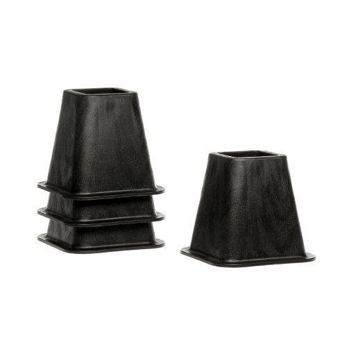 Lowest Price! STRUCTURES 6 Inch Heavy-Duty Bed Risers - Set of 4 - Black