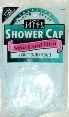 Siris Shower Cap Full Size Satin Lined Vinyl (3-Pack)