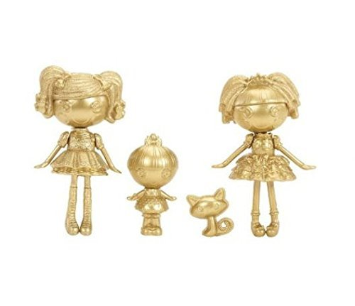 Lalaloopsy, Mini Lalaloopsy Exclusive Limited Gold Edition Set Spot Splatter Splash, Trinket, Sparkles, and Jewel Sparkles - 1