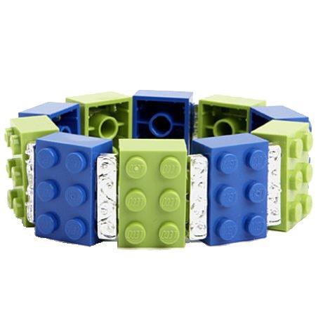 Recycled Lego® Block Bracelet (Blue & Green)