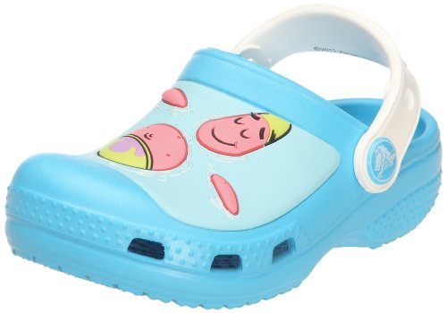 Crocs Spongebob & Patrick Star Spalsh In The Sea Clog (Toddler/Little Kid),Electric Blue/White,4-5 M Us Toddler front-1075696