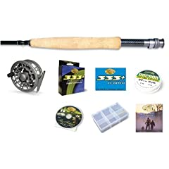 Beginner Cortland 333 Ready To Flyfish Outfit 8 foot 6 inch 5 Weight 4 Piece perfect... by Winston