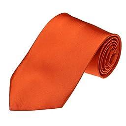 DAA3E01C Orange Solid Woven Microfiber Tie Economics Fabric Neck Tie Work-utility Him By Dan Smith