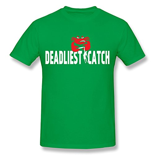 XY-TEE Men's Crew Neck Tee Deadliest Catch Series King Crab ForestGreen Size S
