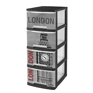 Boite et malle avec drapeau anglais deco londres for Meuble a chaussure london