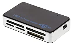 USB 3.0 Multi-Card Reader - Black / Silver