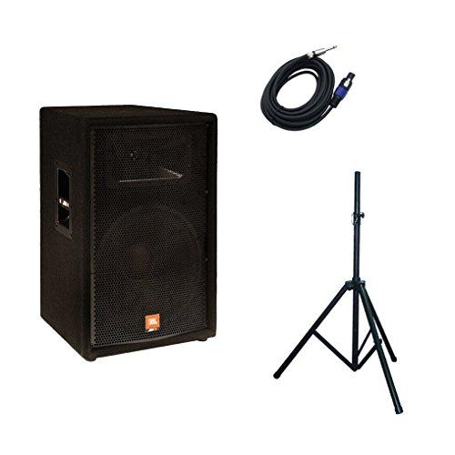 "Jbl Jrx 115 15 Inch Passive Speaker + Speakon To 1/4"" Cable + Speaker Stand Bundle"