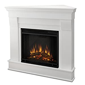 Real Flame 5950e Chateau Corner Electric Fireplace Small White Home Kitchen