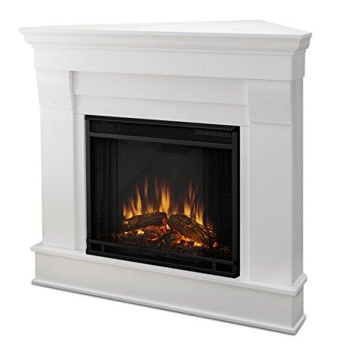 Real Flame 5950E Chateau Corner Electric Fireplace, Small, White (Electric White Fireplace compare prices)