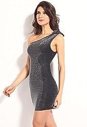 Ruby Womens Polyester Dress (Club-07 _Silvar _Standard)
