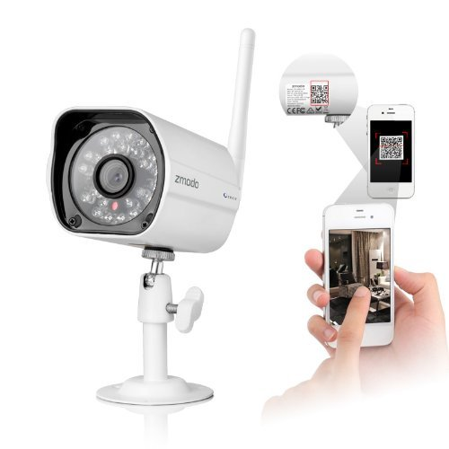 Buy Bargain Wireless 720P HD IP Network Camera with 80ft IR Night Vision Weatherproof IP Camera QR C...