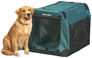 Remington Soft-Sided Collapsible Kennel, Large, 36-Inch L by 26-Inch W by 26-Inch H, Green
