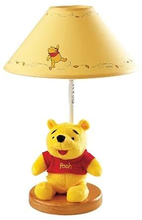lba lampe de chevet portable winnie l 39 ourson en peluche par dalber luminaires et. Black Bedroom Furniture Sets. Home Design Ideas