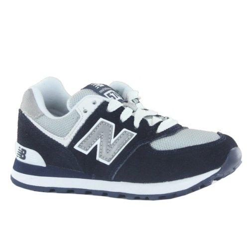 New Balance Kl 574 Classics Traditionnels Navy White Kids Trainers Size 2.5 Uk