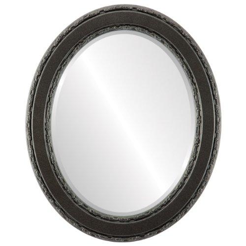 Monticello Oval in Black Silver