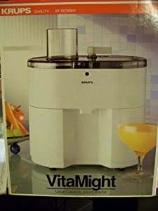 Krups Slow Juice Extractor : Amazon.com: Krups vitaMight Large Capacity Juice Extractor ...
