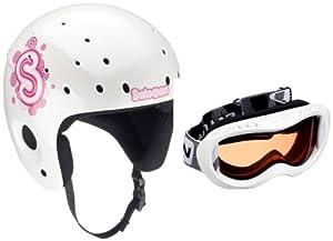 salomon 102709 zoom combo casque de ski enfant blanc pearl. Black Bedroom Furniture Sets. Home Design Ideas