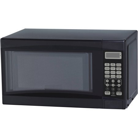 Mainstays 0.7 cu ft Microwave Oven, Black, Time Cook, Time Defrost, Weight Defrost, LED Display, Kitchen Timer (Kitchen Aid Wall Oven Parts compare prices)