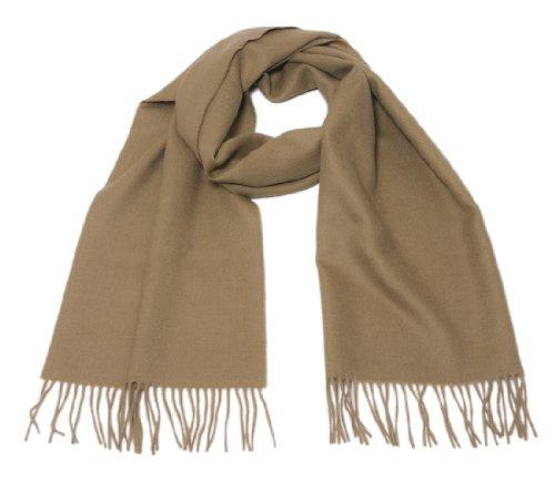 Inwool Alpaka Schal Stola Damenschal / Herrenschal, 100% Babyalpaka Wolle Royal Camel