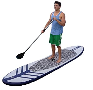 port Vessels Inflatable Stand Up Paddle Board with Paddle, Pump and Carrying Bag, 11-Feet from Newport Vessels