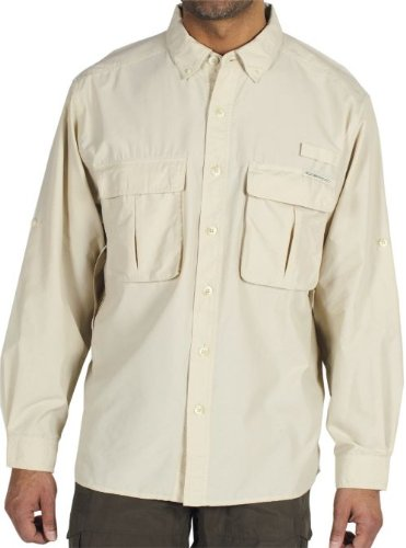 ExOfficio Men's Air Strip Lite Long Sleeve Shirt Tall,Bone,