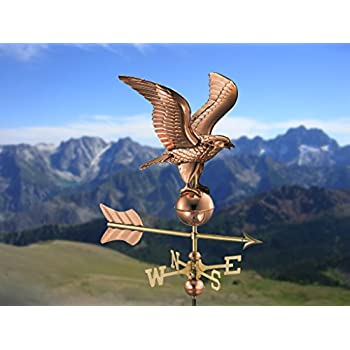 Good Directions Eagle Cottage Weathervane with Roof Mount, Pure Copper