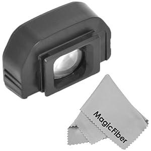 Eyepiece / Eyecup for CANON EOS (1000D, 400D, 350D, 40D, 1D) EOS Mark (1D Mk II, 1D Mk II N , 1Ds Mk II) CANON Rebel (XS, XTi, XT) + Premium MagicFiber Microfiber Cleaning Cloth