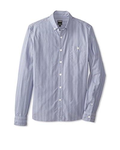 Todd Snyder Men's Blue Stripe Button Down Shirt