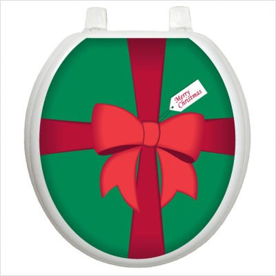 Toilet Tattoos TT-X601-R Christmas Gift Box Design, Round