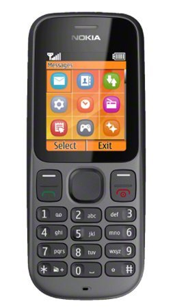 Nokia 100 RH-130 Mobile Phone / Vodafone / Pay As You Go / PAYG / Pre-Pay – Black image