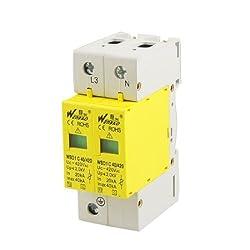 AC 420V 40KA Max Current 20KA 1P+N Din Rail Mount Surge Protection Device Arrester