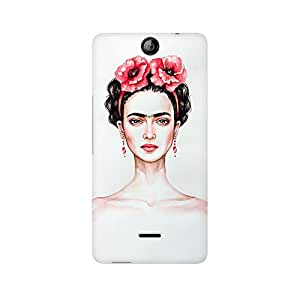 Mobicture Girl Abstract Premium Designer Mobile Back Case Cover For Micromax Canvas Juice 3 Q392