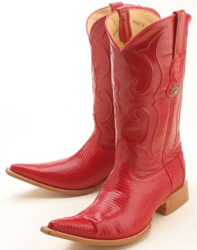 21375 Red Designer Los Altos Genuine Leather Men's Cowboy Boots Pointy Toe 14
