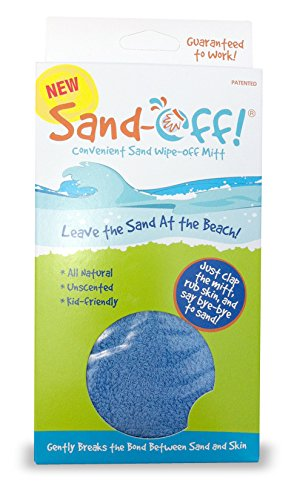 Water Sports Sand-Off! Sand Wipe Off Mitt, Blue - 1