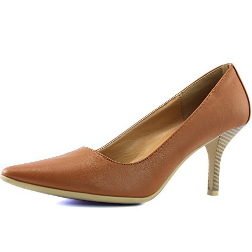 Women's DailyShoes Comfortable Ponited Toe Non-Slip High Heel Pump Shoes, 8