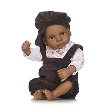 Terabithia Mini 10 pouces 26cm Black Alive -Reborn bébé Garçon Poupées Silicone Full Body African American Garçon Eyes Open