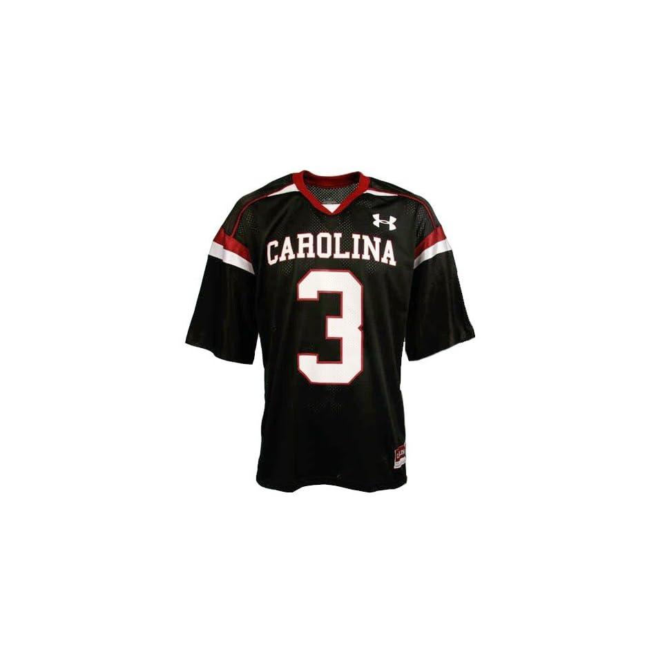 Under Armour South Carolina Gamecocks #3 Black Replica Football Jersey