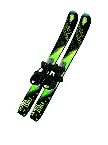 lucky-bums-70cm-kids-beginner-snow-skis-without-poles-green-black-by-lucky-bums