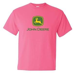 John deere ladies 39 gildan ultra cotton safety for John deere shirts for kids