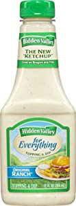 Hidden Valley for Everything Topping and Dip, Original Ranch, 12 Fluid Ounce (Pack of 9)