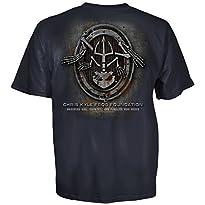 Chris Kyle Frog Foundation Frog Skeleton Metal Oval Logo T-Shirt