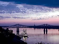 At Dusk at Natchez, a Mississippi Riverboat - Alluring 16x20-inch Photographic Print by Carol M. Highsmith