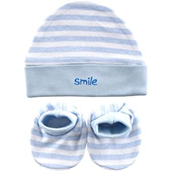 Cap & Bootie Set in Blue