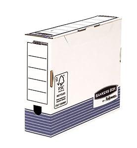 Bankers Box by Fellowes System 80mm A4 Archivschachtel mit automatischem FastFold Aufbau, 10 Stück, blau