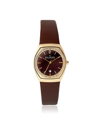 Skagen Women's SKW2117 Leather Brown Mother of Pearl Watch